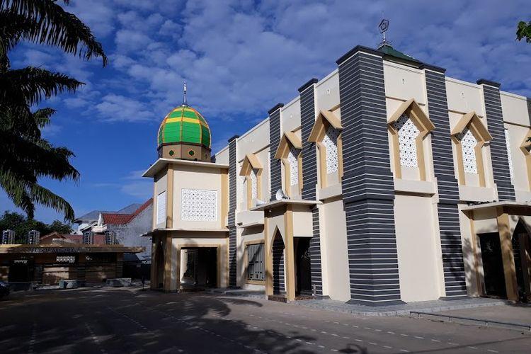 Potret masjid Jamiul Ihsan di Jalan Toddopuli Raya, Kecamatan Panakukang, Makassar.