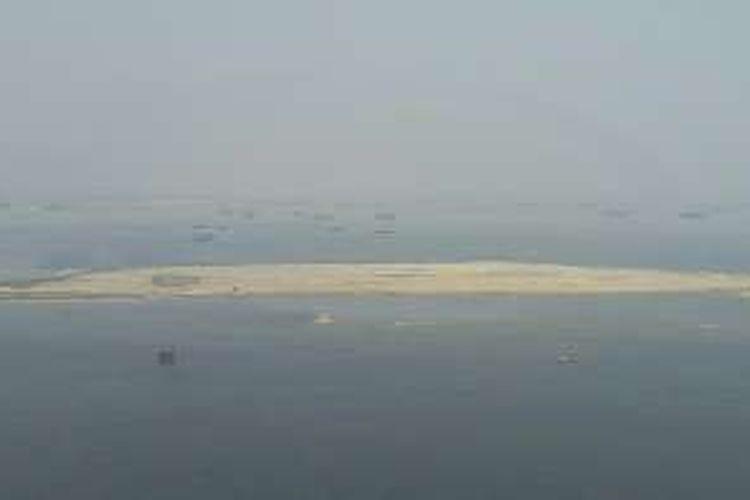 Bakal Pulau G dilihat dari ketinggian Menara London, Pantai Mutiara.
