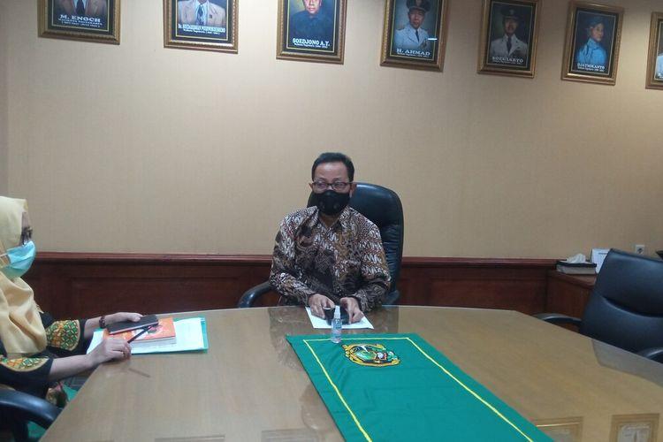 Ketua Harian Satgas Covid Heroe Porwadi ditemui di Balaikota Yogyakarta, Selasa (12/5/2021)