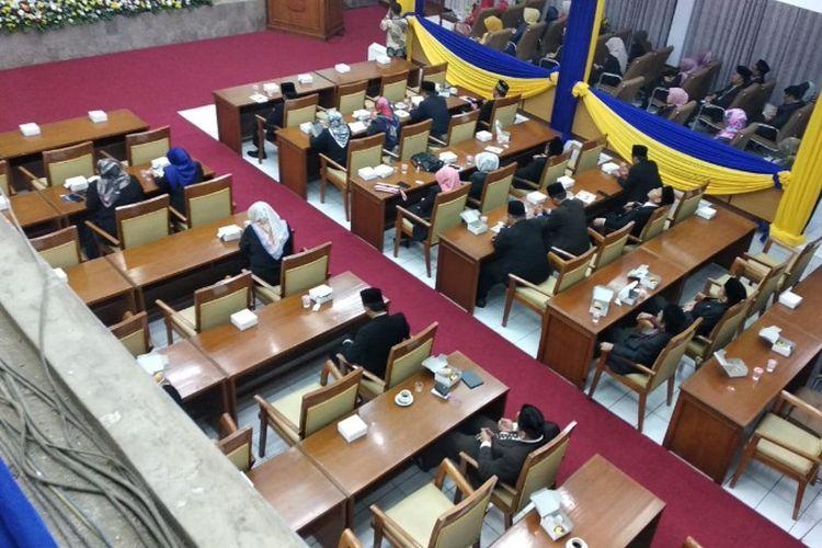 Rapat paripurna DPRD Garut Rabu (23/1/2019) yang menjadi rapat paripurna pertama di periode kedua kepemimpinan Rudy-Helmi.