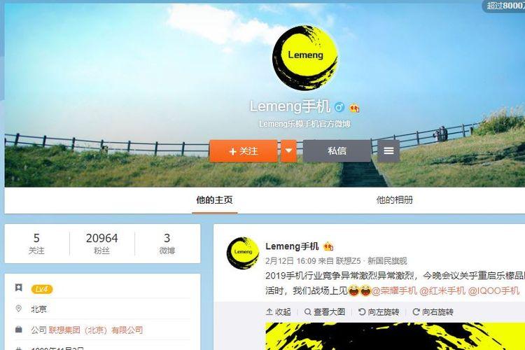 Ilustrasi akun Lemeng Mobile di Weibo