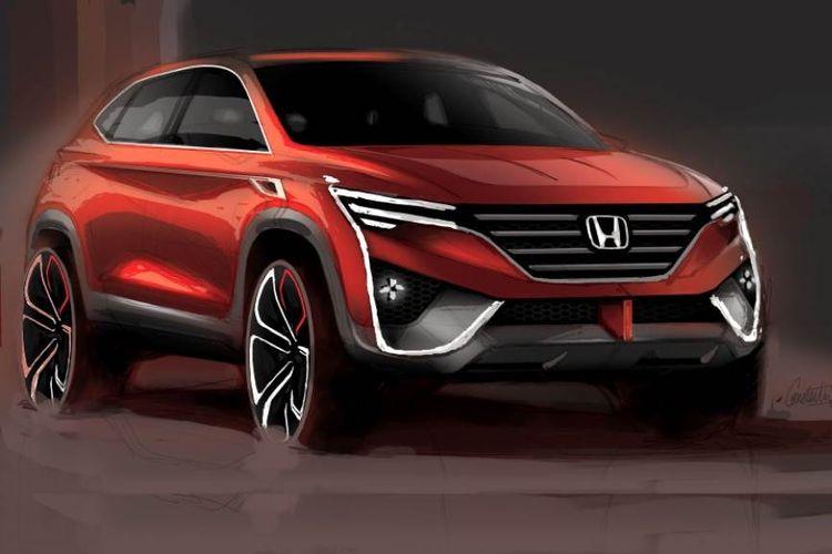 Hasil render Honda HR-V 2021