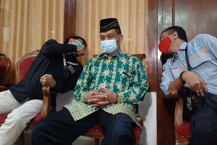 Supriyono (batik hijau) seusai Pertemuan dengan Relawan di Bantul Selasa (23/2/2021)