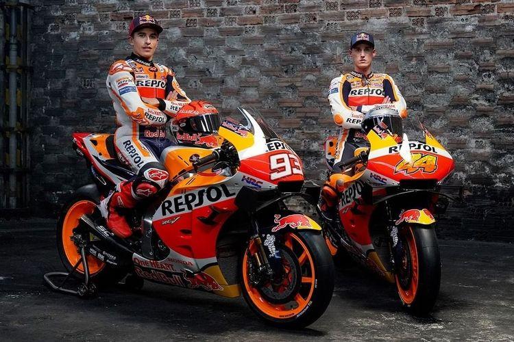 Marc Marquez dengan livery untuk MotoGP 2021