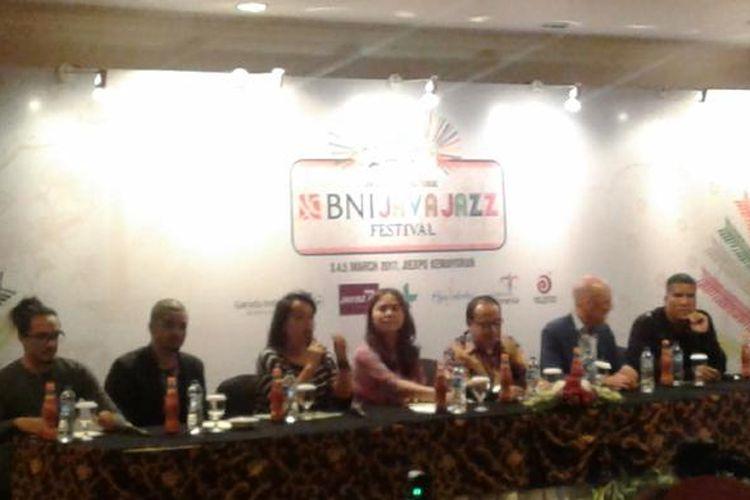 Jumpa pers Java Jazz Festival di Hotel Borobudur, Jakarta Pusat, Rabu (1/3/2017).