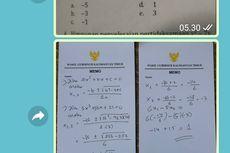 Kerjakan Soal Matematika Siswa SMA, Wagub Kaltim: 10 Tahun Tak Mengajar, Senang Dapat Soal Ini