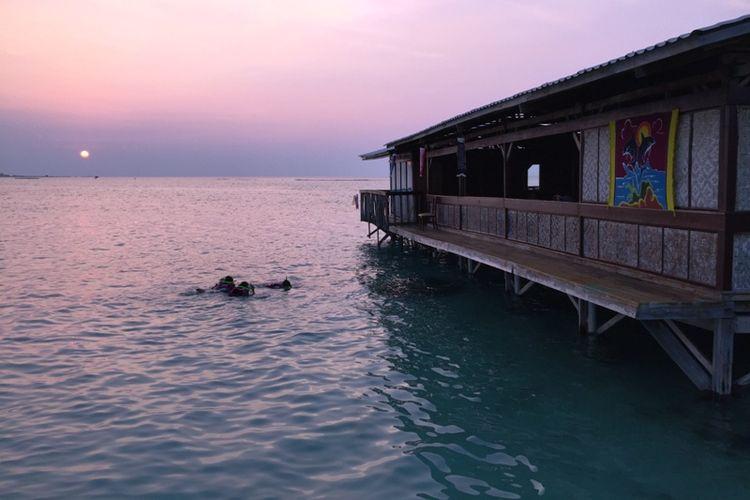 Tidung Lagoon, resort di Pulau Tidung, Kepulauan Seribu.