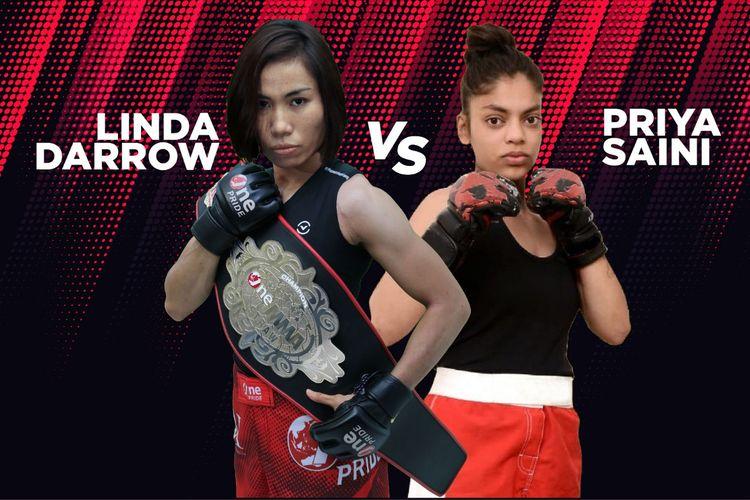 Juara kelas flyweight wanita One Pride MMA Indonesia, Linda Darrow, akan melawan Priya Saini dari India pada Sabtu (21/3/2020).