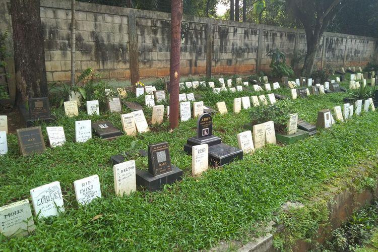 Pemakaman Pondok Pengayom Satwa di Ragunan, Jakarta Selatan.