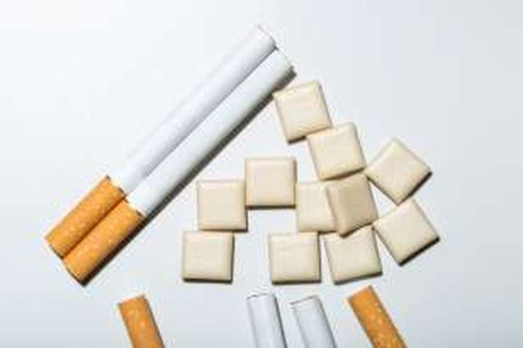Ilustrasi permen karet nikotin.