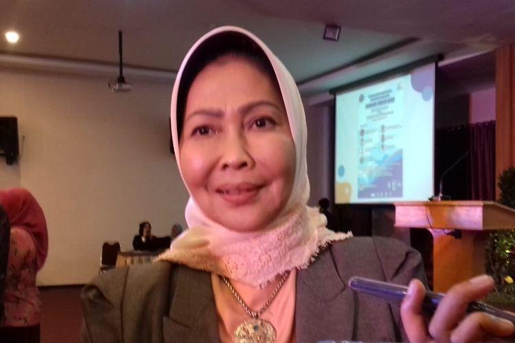 Wali Kota Batu, Dewanti Rumpoko saat menghadiri acara di Universitas Brawijaya (UB) Kota Malang, Kamis (12/9/2019).