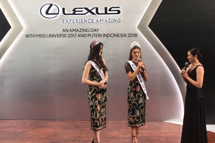 Miss Universe 2017, Demi-Leigh Nel-Peters bersama Puteri Indonesia 2018, Sonia Fergina Citra.