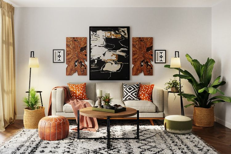 Ilustrasi ruang keluarga.