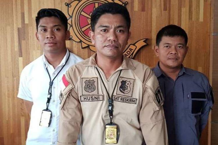 Kasat Reskrim Polresta Pontianak, Kompol Husni Ramli saat menggelar pers rilis terkait perkara pengeroyokan pelajar di Pontianak, Kalimantan Barat, Selasa (9/4/2019).