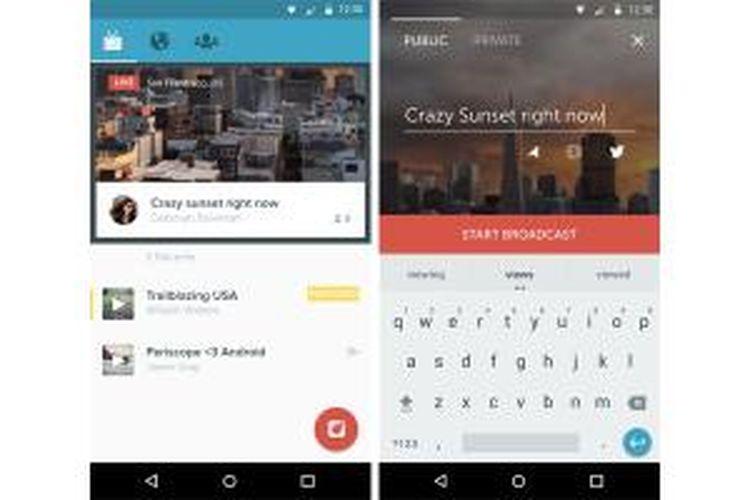 Periscope kini sudah tersedia untuk platform Android