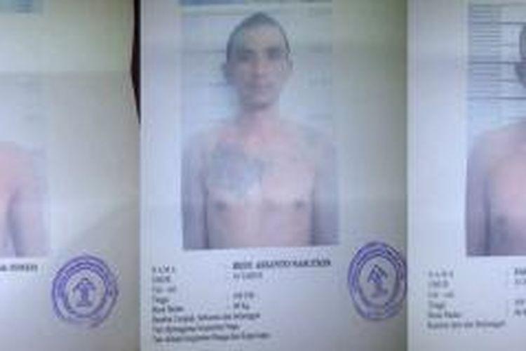 Masing masing ketiga warga binaan ini, bernama Dedi Harianto Nasution, umur 33 tahun, alamat Jalan Kelambir Gang Tower Medan Sunggal, tersangdung kasus pembunuhan dan di jatuhi hukuman kurungan 12 tahun, Ahmedi Iqbal, umur 34 tahun, alamat Aceh Selatan, tersandung kasus pembunuhan, dijatuhi hukuman 15 tahun dan Saili, umur 34 tahun, alamat Jalan Kepatuhan, Perbaungan, tersandung kasus narkoba dijatuhi hukuman 10 tahun.