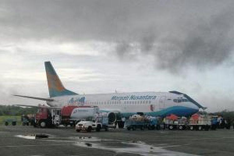 Pesawat Merpati Nusantara di Merauke, Papua.