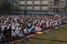 Ribuan Warga Binaan Shalat Id di Rutan Cipinang