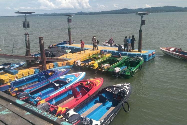 Ilustrasi : speed boat reguler yang melayani penumpang dan barang rute Nunukan - Sebatik Kaltara