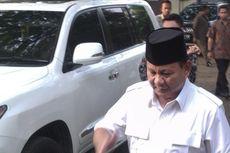 Akan Pimpin Pelepasan Jenazah Suhardi, Prabowo Sudah Ada di Kantor DPP Partai Gerindra