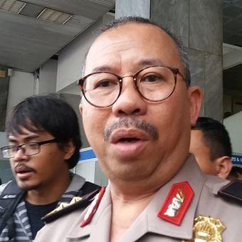 Kadiv Humas Polri Irjen Pol Setyo Wasisto di Kompleks Parlemen, Senayan, Jakarta, Kamis (12/10/2017).