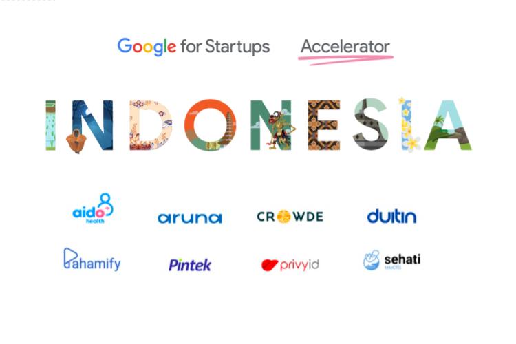 Delapan startup yang lulus program Google for Startups Accelerator yang baru pertama kali digelar di Indonesia.