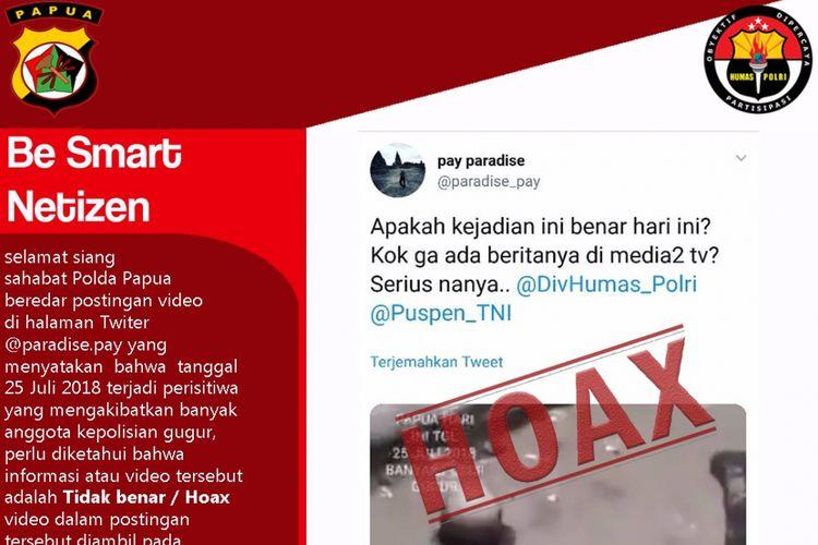 Humas Polda Papua sebar kebenaran soal video tersebut