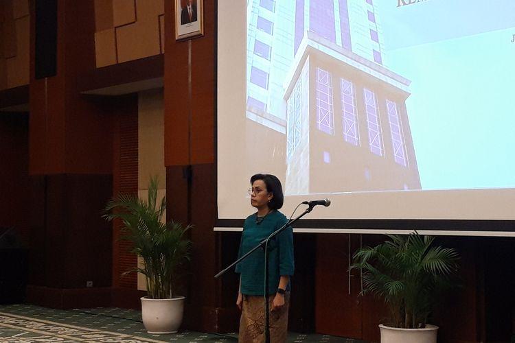 Menteri Keuangan Sri Mulyani Indrawati di Jakarta, Jumat (13/3/2020).
