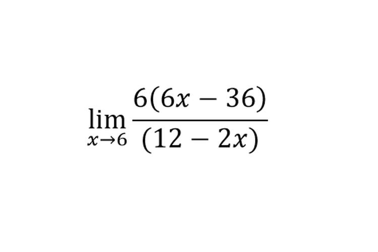 Sebuah contoh soal limit.