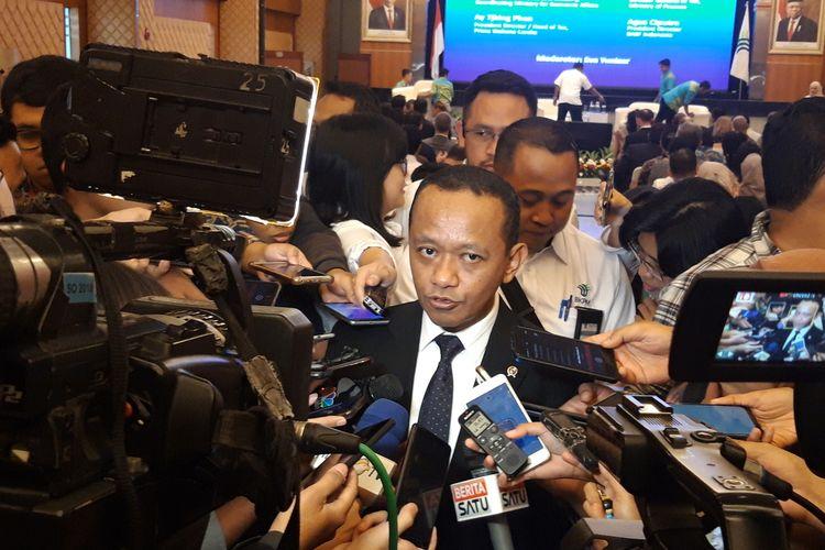 Kepala Badan Koordinasi Penanaman Modal (BKPM) Bahlil Lahadalia di Jakarta, Senin (17/2/2019).