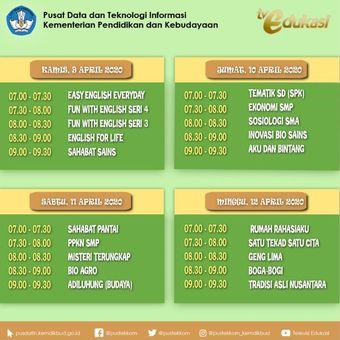 Jadwal TV Edukasi Kemendikbud