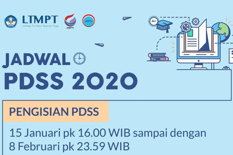 Tangkapan layar jadwal PDSS 2020