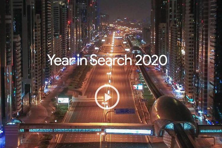 Ilustrasi Google Year in Search 2020.