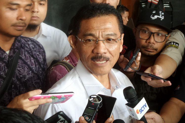 Mantan Menteri Dalam Negeri, Gamawan Fauzi, di Pengadilan Tipikor Jakarta, Senin (9/10/2017).