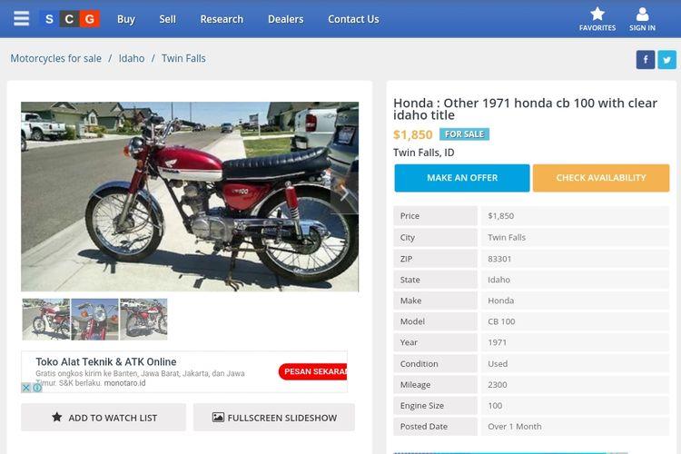 Harga Honda CB100 di luar negeri bisa mencapai Rp 30 jutaan