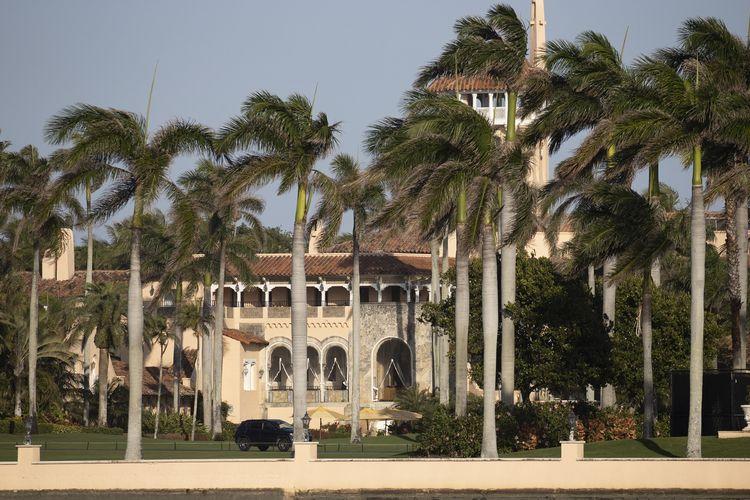Resor Mar-a-Lago milik Donald Trump di Palm Beach, Florida. Foto diambil pada 13 Februari 2021.