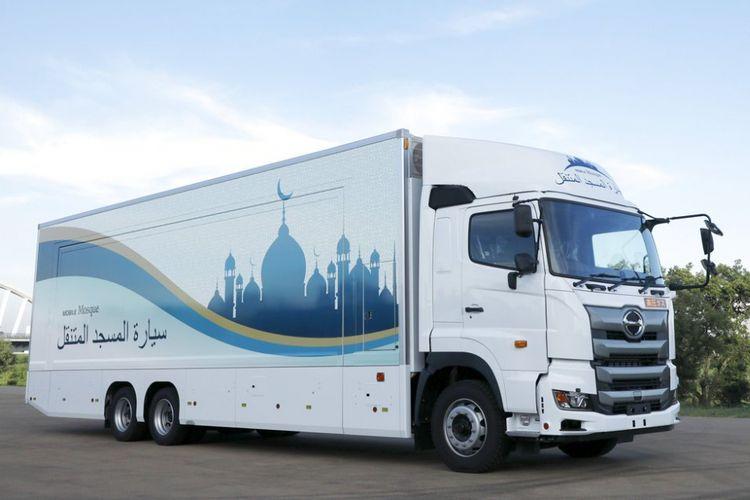 Masjid berjalan yang dipersiapkan Jepang untuk menyambut perhelatan Olimpiade Tokyo 2020.
