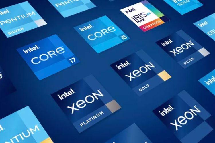 Ilustrasi stiker yang mengusung logo Intel baru.