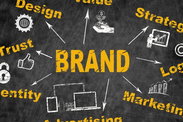 Ilustrasi branding atau merek