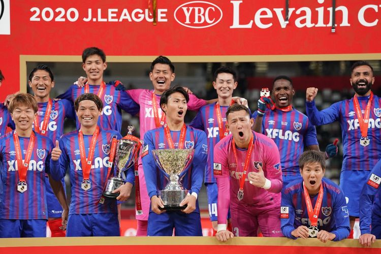 FC Tokyo saat menjuarai J.League YBC Levain Cup 2020.