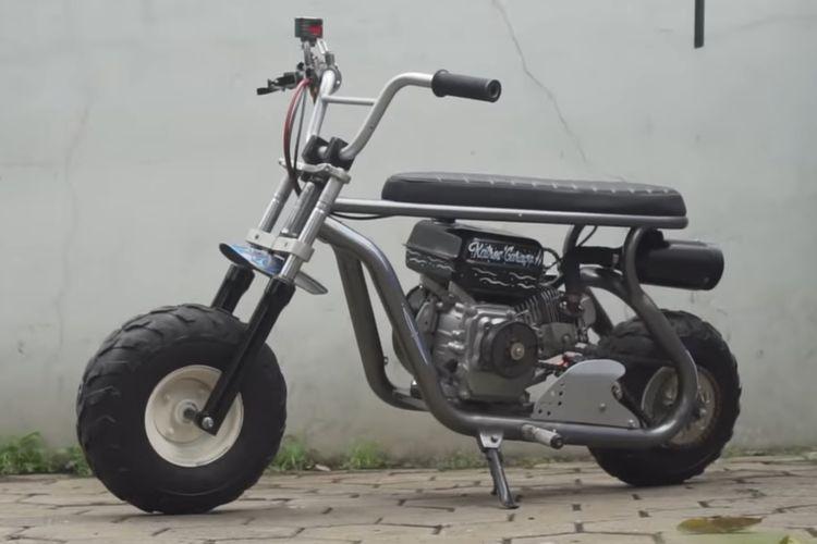 Motor mini berbasis mesin pompa air garapan Katros Garage