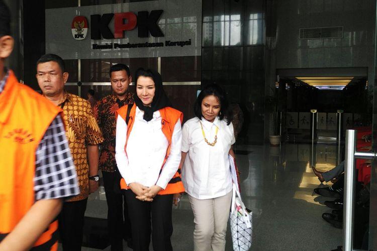 Bupati nonaktif Kutai Kartanegara Rita Widyasari, Jumat (19/1/2018).