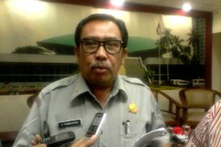 Direktur Tanggap Darurat Badan Nasional Penanggulangan Bencana (BNPB) pada saat ditemui usai konferensi pers terkait bencana kebakaran hutan di sejumlah wilayah di Indonesia, di Gedung DPR, Jakarta, Kamis (10/9/2015)
