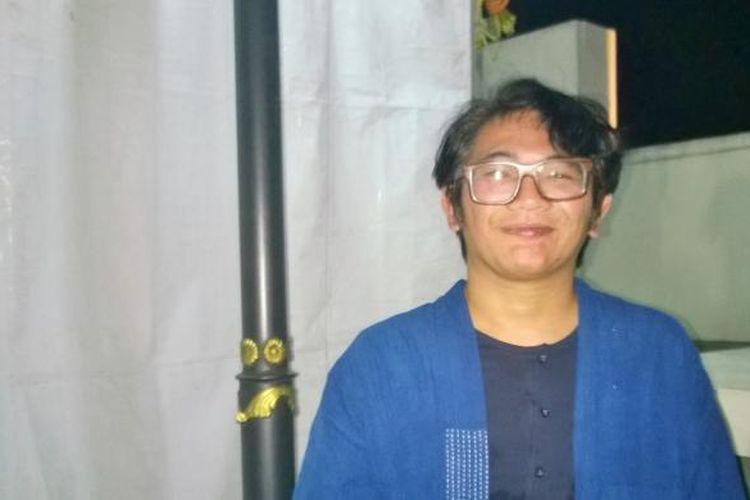 Mondo Gascaro usai tampil dalam acara Land of Leisure di Rooftop Ambarukmo Plaza, Yogyakarta, Sabtu (22/10/2016).