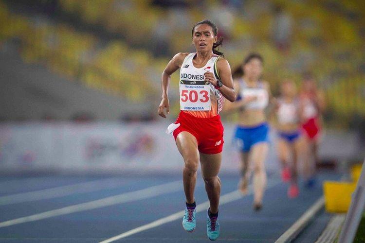 Pelari jarak jauh putri, Triyaningsih, berhasil menyumbang emas kedua untuk cabang olahraga atletik pada SEA Games 2017 di Stadion Bukit Jalil, Kuala Lumpur, Malaysia, Kamis (24/8/2017).
