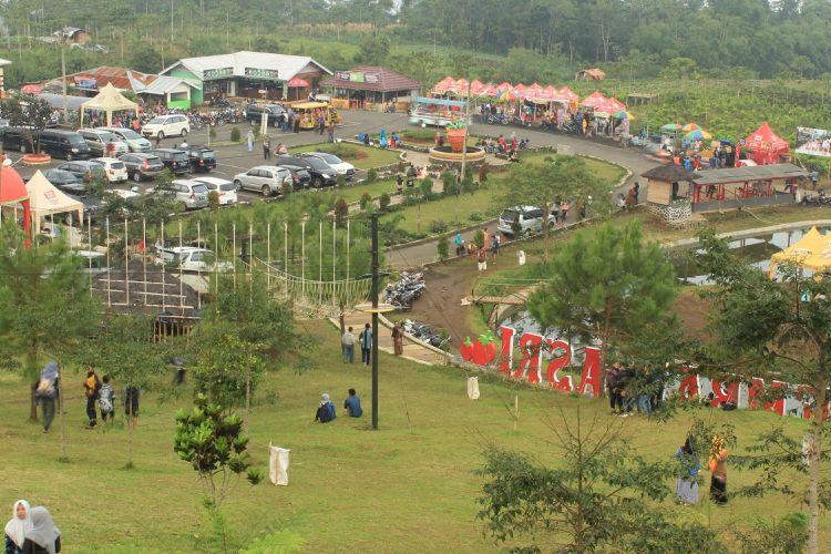 Lembah Asri Desa Serang, di Kecamatan Karangreja, Purbalingga, Jawa Tengah.