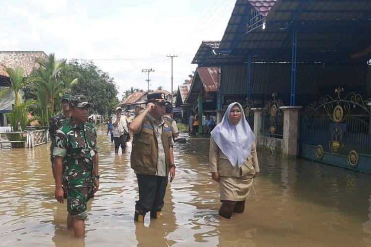 Lokasi banjir yang terjadi di empat kecamatan di Kabupaten Musi Rawas, Sumatera Selatan. Selain merendam ribuan rumah, banjir tersebut juga merendam sawah serta tiga jembatan rusak.