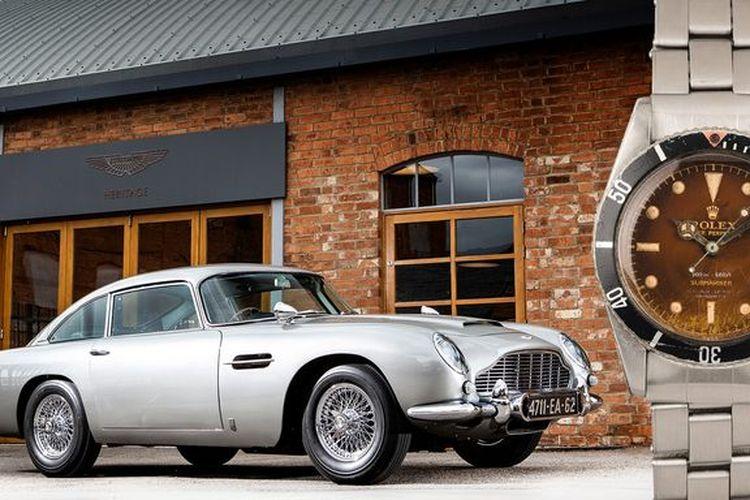 Mobil Aston Martin dan arloji Rolex James Bond