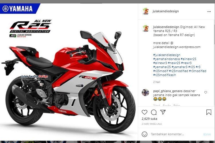 Yamaha YZF-R25 facelift pakai desain R7