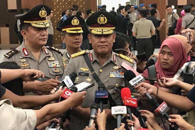 Kepala Badan Pemeliharaan Keamanan (Kabaharkam) Irjen Firli Bahuri di Gedung Bareskrim Polri, Jakarta Selatan, Selasa (19/11/2019).